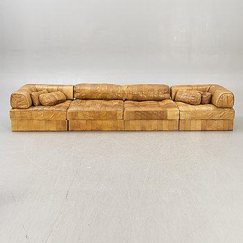 A leather de Sede 1970s sofa.