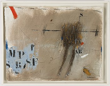 James Coignard, mixed media on paper, signed.