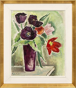 Agda Holst, a signed oil on board.