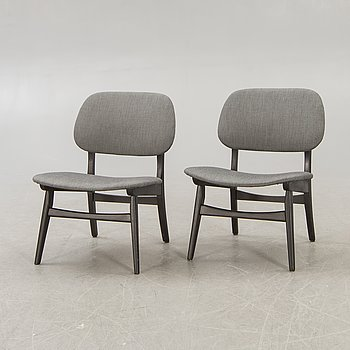 Chairs, a pair, 1950s-60s.