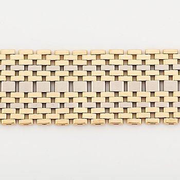18K gold bracelet in two colours.