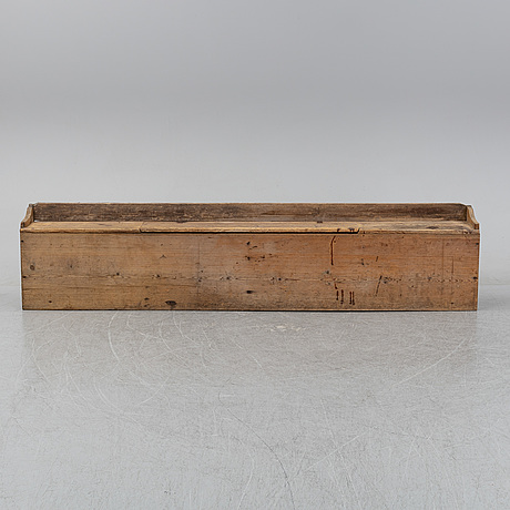 A provincial swedish wooden sofa, later part of the 19th century.