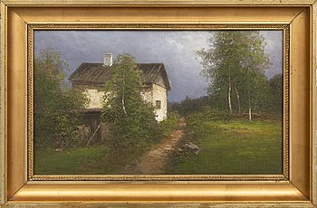 Severin Nilson, oil on canvas signed.
