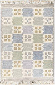 A carpet, flat weave, ca 203 x 141,5-142,5 cm, signed NN.