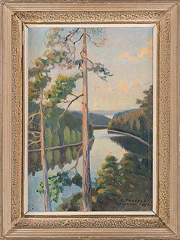 Oskari Paatela, olja på pannå, signerad och daterad 1940.