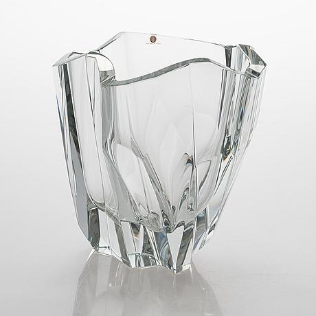 Tapio wirkkala, an 'iceberg' vase signed tapio wirkkala 3825.