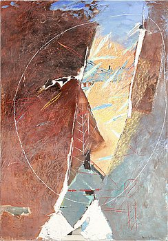 Moris Gontard, mixed media, signed and dated -86.