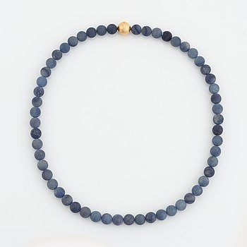 Ole Lynggaard, blue stones necklace, goldclasp.