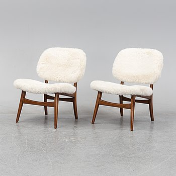 A pair of 1950's/60's easy chairs.