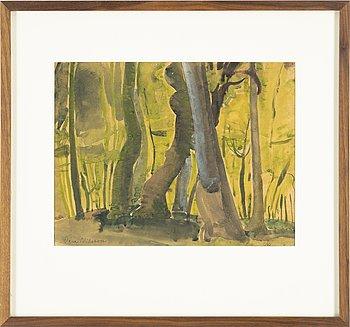 Vera Nilsson, watercolour, signed Vera Nilsson.