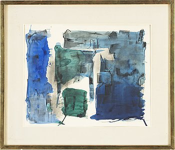 Endre Nemes, wate colour, signed Endre Nemes and dated -62.