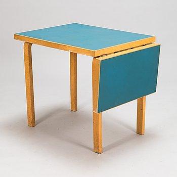 Alvar Aalto, A mid-20th century drop leaf table for Artek Finland.