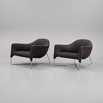 A pair of armchairs, Poliform, Italy.