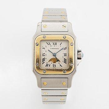 Cartier, Santos, wristwatch, 24 x 24 (35) mm.