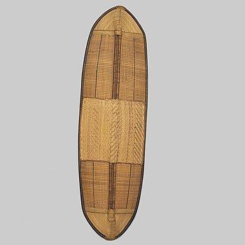 A rattan shield, Mongo-Ngandu, DRC, early 20th Century.