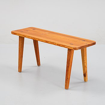 A pinewood stool, second half of the 20th Century.