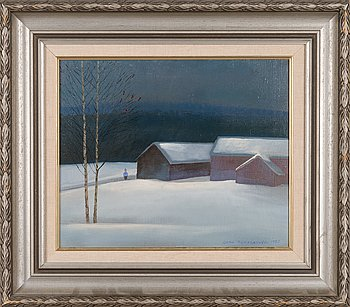 Jorma Turtiainen, oil on canvas, signed and dated 1988.
