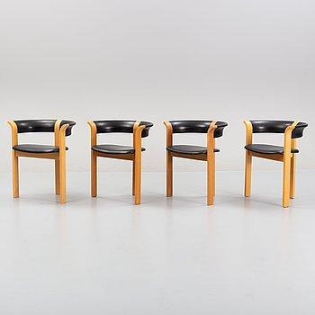 Rud Thygesen and Jonny Sørensen, a set of four chairs, Magnus Olesen, Denmark.