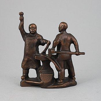 Allan Ebeling, sculpture, bronze, signerad.