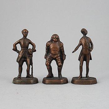 Allan Ebeling, sculptures, 3, signed.