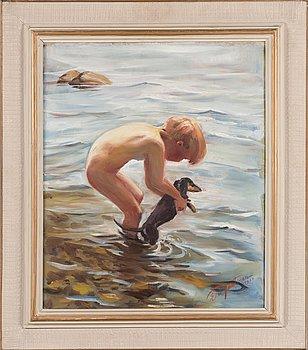 Eeli Jaatinen, öljy kankaalle, signeerattu ja päivätty 1960.