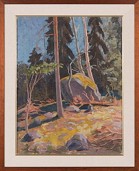 Väinö Hervo, oil on canvas, signed and dated 1938.