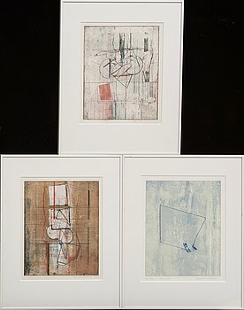 Anders Österlin, three serigraph, 3 pcs, signed dated and numbered 1979 71/125 1/10.