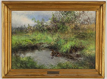 Mosse Stoopendaal, oil on canvas, signed and dated 1937.