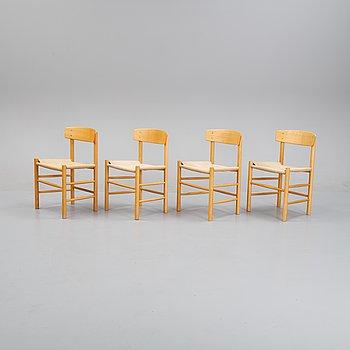 Børge Mogensen, four 'J39' chairs, FDB Møbler, Denmark.