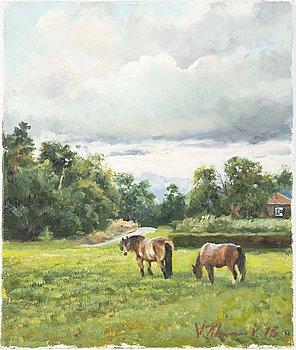 Vjeteslaj Kliuchnikov, oil on canvas, signed and dated 2002.