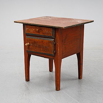 A swedish wooden table from Hälsingland, first half of the 19th century.
