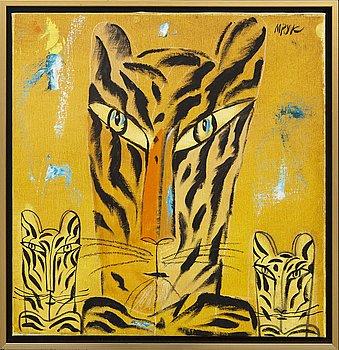Madeleine Pyk, oil on canvas signed.