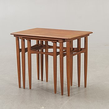 A Danish 1960s teak nesting table.