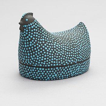 """Kaarina Aho, """"Munakana"""", keramik, Arabia 1964-71."""