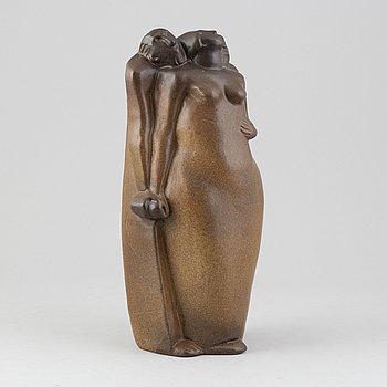 Åke Holm, a glazed stoneware sculpture, signed.