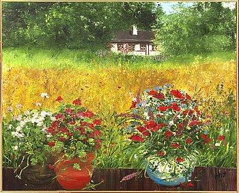Ann-Marie Jönsson, oil on canvas signed.