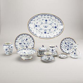 """Tableware, 48 pcs """"Sommerfugl"""" Bing & Gröndahl Denmark porcelain."""