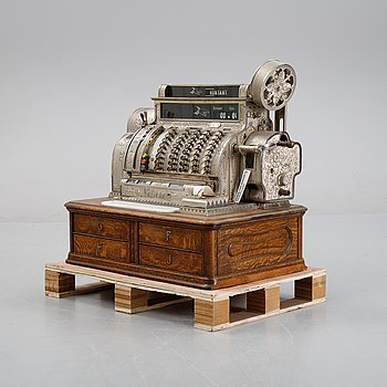 A 'National' cash register from USA, early 20th Century.