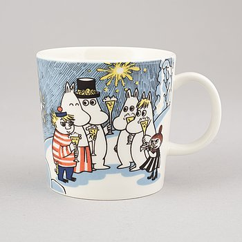 Moomin mug, porcelain, 'Millenium', Finland, 1999-2000.
