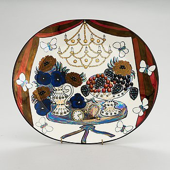 Birger Kaipiainen, A 'Jubilee dish 2000' 89/400, Pro Arte, Arabia.