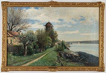 Konrad Simonsson, oil on canvbas, signed an ddated 1887.