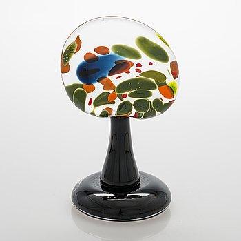 """Alma Jantunen, glasskulptur, """"Lasisirkus"""", signerad Alma Jantunen, Lasisirkus, Nuutajärvi 2001."""