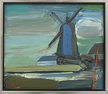 Fredrik Rohde, oil on panel, Signed FR, dated -85.