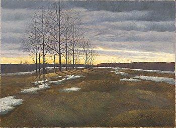 Oscar Lycke, oil on canvas, signed, dated -07.