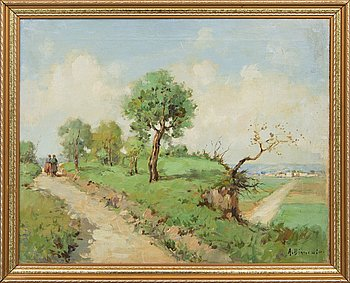 Arthur Bianchini, oil on canvas, signed.
