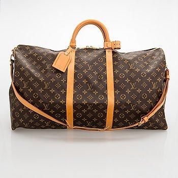 Louis Vuitton, a monogram 'Keepall 60 Bandoulière' Weekendbag.