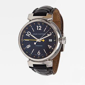 Louis Vuitton, Tambour GMT, wristwatch, 39 mm.