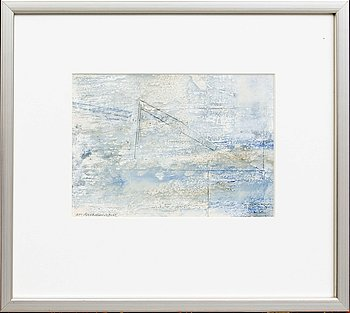 Anders Österlin, a signed and dated mixed media.