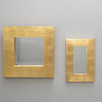 Speglar, 2 st, Eriksmåla glas, 1900-talets andra hälft.