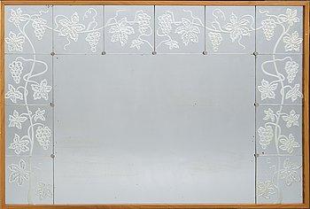 Mirror, Swedish Modern, 1930-40s, Eriksmåla glass.